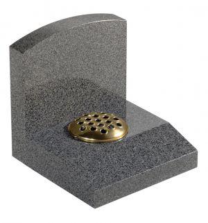 Dark Grey Granite headstone