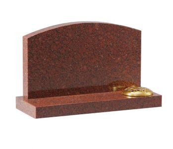 Ruby Red Granite cremation